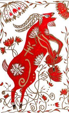 Chinese Year Of The Sheep Print By Barbara Giordano