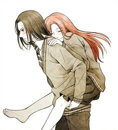 Lily: What's wrong, Sev? Severus: You're wearing a skirt is all.