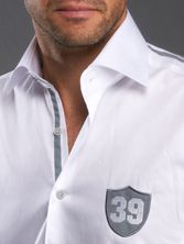 White Shirt Gray 39 gris, Collectors - Dress Shirts for Men - French-Shirts.com
