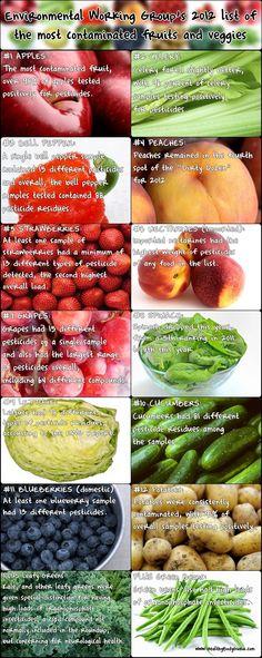 Top Fruits and Veggies to Buy Organic