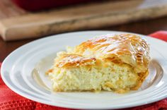 Greek Savory Cheese Pie - a traditional and very popular European treat. A cheese pie filling made with bechamel sauce, feta cheese, ricotta between 2 layers of puff pastry. Greek Cheese Pie, Cheese Pies, Greek Recipes, Pie Recipes, Cooking Recipes, Recipies, Lebanese Recipes, Homemade Taco Seasoning, Homemade Tacos
