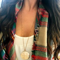 Monogram Disc Pendant Necklace - 2 Inch – I Love Jewelry