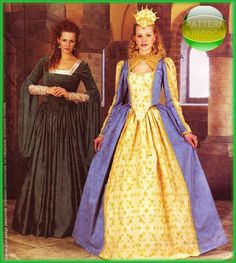 McCalls 2798 Elizabethan Princess Dress/Gowns Renaissance