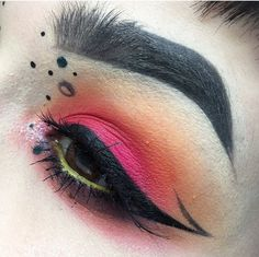 @illamasqua Sketch Sticks in Fly, Trance & higher, brow cake in Thunder, Skin base in 3 & 1, Pure pigment in Axolotyl Gel liner in Quixotic Demise palette using Lost & Intertius 21 Lashes @sugarpill shadows in Dollipop @katvondbeauty tattoo liner in Trooper