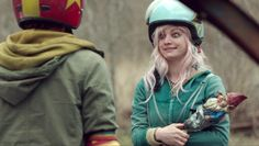 Apple from Turbo Kid and her Gnome Stick.