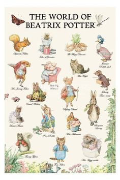Beatrix Potter. Among the first books printed for young children. Made small specifically for small hands.