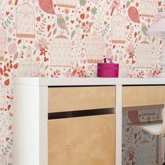 Papel de parede adesivo gaiolas - StickDecor | Decoração Criativa