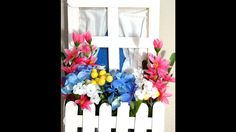 Faux window with flower box-wall décor: Mother's Day gift