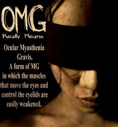 Ocular Myasthenia Gravis June is Myasthenia Gravis Awareness Month. Dercums Disease, Autoimmune Disease, Chronic Illness, Chronic Pain, Myasthenia Gravis, Hard Breathing, Homeopathic Medicine, Relapse, Rheumatoid Arthritis