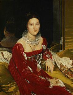 Madame de Senonnes // Jean Auguste Dominique INGRES    FS