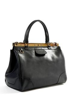 "Sooooo beautiful. But not what I""m after right now. Milan Leather Bag (Black)"