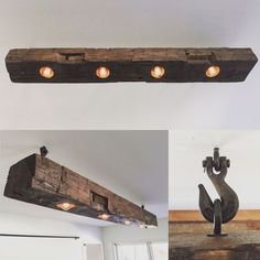 Just finished this barn beam light fixture. #CopperLamp #CoolWoodwork
