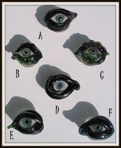 Creepy Glass Eye Bead or Cabochon for wirewrapping by HannahRachel, $15.00