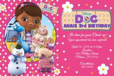 I ordered this Doc Mcstuffins Birthday Invitation for my daughter's 3rd birthday party!