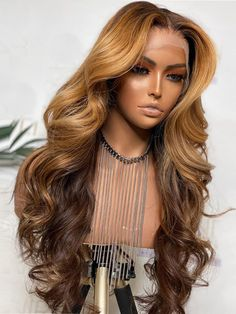 Front Hair Styles, Curly Hair Styles, Natural Hair Styles, Blonde Lace Front Wigs, Human Hair Lace Wigs, Blonde Ombre, Wavy Hair, Dyed Hair, Short Hair
