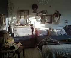 "Bedroom by Charlie Kinyon ""HipsterBedroom"", via Flickr looks a lot like my room but mine has more onthe walls…hmm…"