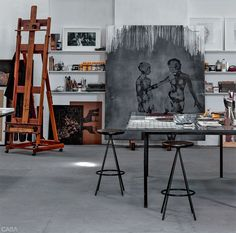 Atelier artist Rian Fontenele photo Marco Antonio