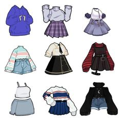 Cute Art Styles, Cartoon Art Styles, Art Drawings Sketches Simple, Cute Drawings, Outfit Drawings, Fashion Design Drawings, Fashion Sketches, Kleidung Design, Drawing Anime Clothes