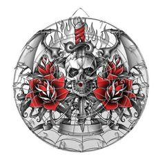 Skull n Dagger with Devil wings Dart Boards