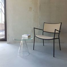 Sander Table and Jig Easy Chair in the Massproductions Stockholm Showroom.