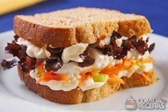 Receita de Sanduíche com cenoura e queijo minas em receitas de paes e lanches, veja essa e outras receitas aqui!