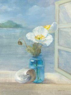 Coastal Floral II, Art Print by Danhui Nai