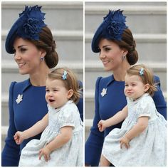 Kate's wearing a beautiful blue Jenny Packham dress and accessorising with her Collins and sons diamond and Tanzanite earrings. #KateMiddleton #TheDuchessOfCambridge