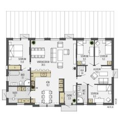 Scandinavian Modern, House Layouts, House Plans, Villa, Floor Plans, Construction, Flooring, How To Plan, Architecture