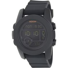 Nixon Men's Unit A490001 Rubber Quartz Watch with Digital Dial