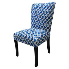 The perfect addition to your dining table or parlor, this chic side chair features a vibrant diamond-inspired motif and foam cushioning.   ...