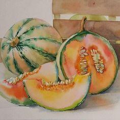 堆糖-美好生活研究所 Watercolor Fruit, Watercolor Journal, Watercolour Painting, Watercolor Flowers, Watercolors, Vegetable Painting, Fruit Painting, The Joy Of Painting, Fruit Art