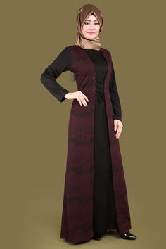 Muslim Dress, Hijab Dress, Hijab Outfit, Abaya Fashion, Muslim Fashion, Fashion Dresses, Hijab Style, Hijab Chic, Ny Dress