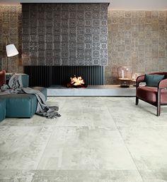 Porcelain Tiles - Gatsby from Aparici Gatsby, Interior Photo, Decor Interior Design, Interior Decorating, Bauhaus, House Flippers, Keramik Design, Tile Manufacturers, Feature Tiles
