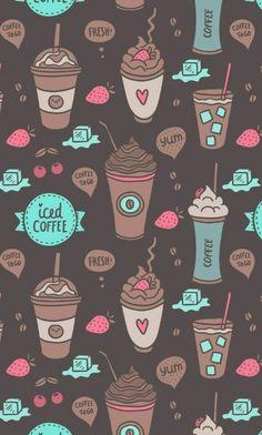 Imagen de wallpaper, coffee, and background Wallpaper Free, Wallpaper For Your Phone, Kawaii Wallpaper, Tumblr Wallpaper, Pattern Wallpaper, Mobile Wallpaper, Wallpaper Quotes, Cute Backgrounds, Cute Wallpapers