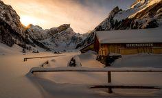 This is Switzerland - The Alpstein mountains in  Switzerland.