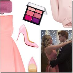 Riverdale: Betty Cooper by danielle-487 on Polyvore featuring moda, Halston Heritage, Prada, Christian Louboutin, Judith Leiber and MAC Cosmetics