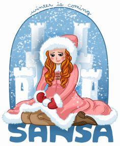 Sansa and her snow castle