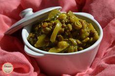 Chroniques Gourmandes Dhal de lentilles vertes, courgettes et curry indien