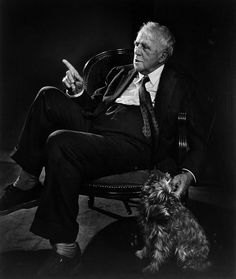 Robert Frost (1874-1963) by Yousuf Karsh. American poet. His work was initially published in England before it was published in America. Pulitzer Prize for Poetry