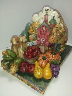 "Jim Shore ""Country Bounty"" Cornucopia Diorama Figurine 4017595 | eBay"