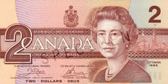 Canadian Banknotes 2 Dollars bank note 1986 Her Majesty Queen Elizabeth II, Queen of Canada Ottawa, Canadian Dollar, Canadian Coins, Canadian Maple, 2 Dollar Bill, Coins Worth Money, Valuable Coins, Two Dollars, 2 Bill