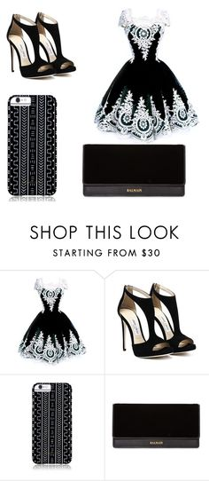 """""""black and white"""" by dumy-stela ❤ liked on Polyvore featuring Savannah Hayes and Balmain"""
