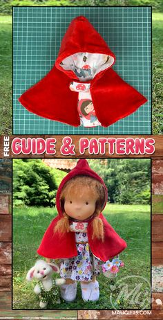 Make a Hooded Cape for your Little Red Riding Hood with this Easy to Follow Step-by-Step Guide with Patterns in PDF (Free) Perfect Image, Perfect Photo, Love Photos, Cool Pictures, Most Popular Fairy Tales, Cape Tutorial, Tales For Children, Red Riding Hood, Little Red