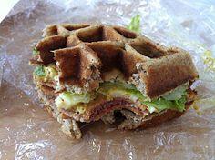 Grain free waffle sandwiches! Fun!