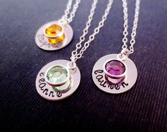 personalized name and birthstone necklace #chipandchisel