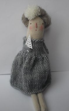 Winter   Christmas art doll by maidolls on Etsy, £32.00