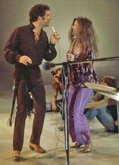 "dustydefinitely: "" "" Tom Jones and Janis Joplin "" I've never seen them pictured together… this is magical. """