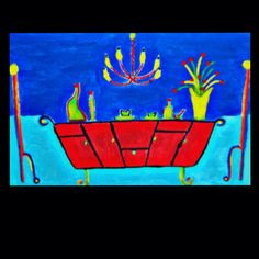 """""""Happy Diner"""" Acryl Painting on canvas (size L)"""