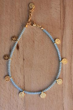 Gypsy coin anklet Turkish jewelry gold filled coin - new season bijouterie Beaded Anklets, Anklet Jewelry, Beaded Choker, Dainty Jewelry, Cute Jewelry, Boho Jewelry, Jewelry Crafts, Beaded Jewelry, Jewelery