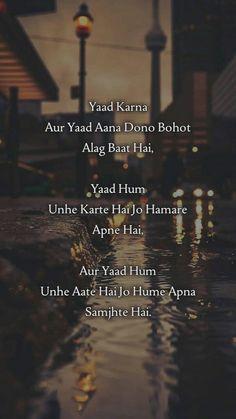 xyz ~ 99472072 Pin on osm quotes ~ Yaad Kerna or Yaad Ana - Meri Diary Se. Quotes About Attitude, True Feelings Quotes, Reality Quotes, Shyari Quotes, Hurt Quotes, Real Life Quotes, Relationship Quotes, Friend Quotes, Qoutes